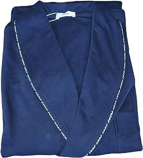 Elegante Vestaglia Lunga da Uomo in Felpa GARZATA di Puro Cotone con Collo Sciallato E Profilo Microfantasia B&B Art. Corv...