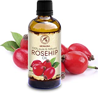Rosehip Oil 3.4oz - Rosa Canina Fruit Oil - Chile - Cold Pressed - 100% Pure & Natural - Base Oils - Rosehip Seed Oil - Face Care - Body - Hair - for Massage - Cosmetics