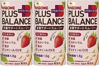 カゴメ Plus Balance 栄養サポートスムージー 濃厚ストロベリーMix 125ml ×3本
