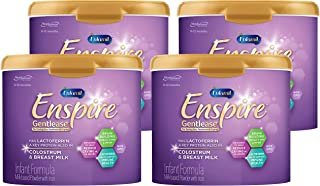 Enfamil Enspire Gentlease Baby Formula w/ Lactoferrin (found in Colostrum & Breast Milk) Milk Powder 20 oz Tub (4) - For Easing Fussiness Gas & Crying, Brain Building & Immune Support, DHA, MFGM