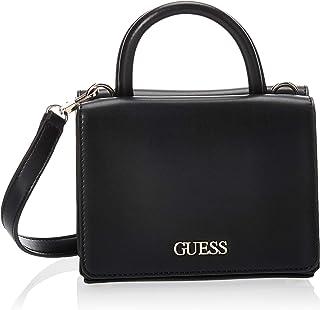 GUESS Unisex Kendy Double Flap Crossbody Shoulder Bag, Color: Black