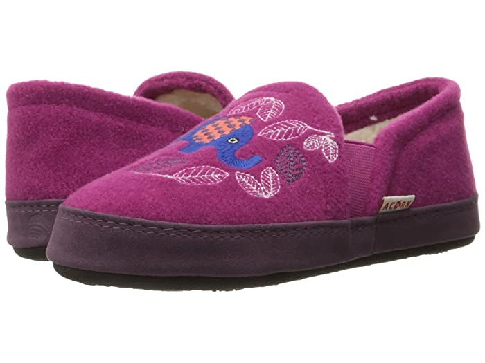 Acorn Kids  Colby Gore Moc (Toddler/Little Kid/Big Kid) (Magenta Elephant) Girls Shoes