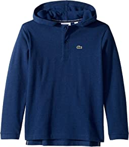 Long Sleeve Hooded Pique Polo (Infant/Toddler/Little Kids/Big Kids)