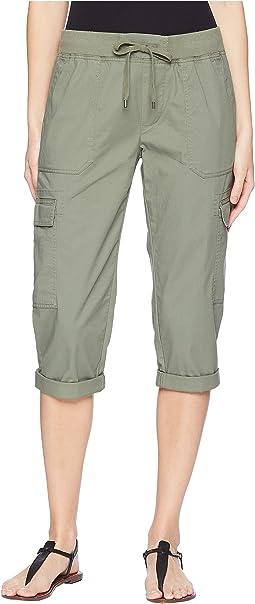 Stretch Cotton Capri Pant