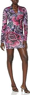 Just Cavalli womens Just Cavalli Womens Fitted Rose Print Dress Dress