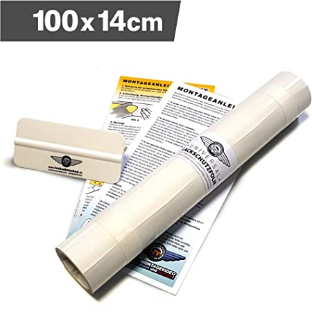 Lackschutzshop Lackschutzfolie Schutzfolie Klebefolie Transparent Universal 140x1000mm Selbstklebend 150µm Auto