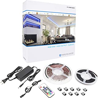 American Lighting HTL-RGBW-5MKIT Collection Trulux IP54 High-Output LED Tape Light Kit, Single Reel Kit-16.4-Feet, RGBW