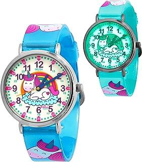 KIDDUS Montre Bracelet Éducative pour Enfants, Fille. Time Teacher Analogique avec Exercices. Mécanisme en Quartz Japonai...