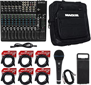 Mackie 1402VLZ4 14-Ch. Compact Pro Studio Mixer+Bag+Microphone+(6) XLR Cables