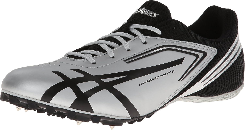 ASICS Men's Hypersprint 5 Track shoes White Black bluee