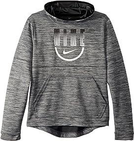 ef298752281c Nike Kids Therma Graphic Swoosh Training Pullover Hoodie (Big Kids ...