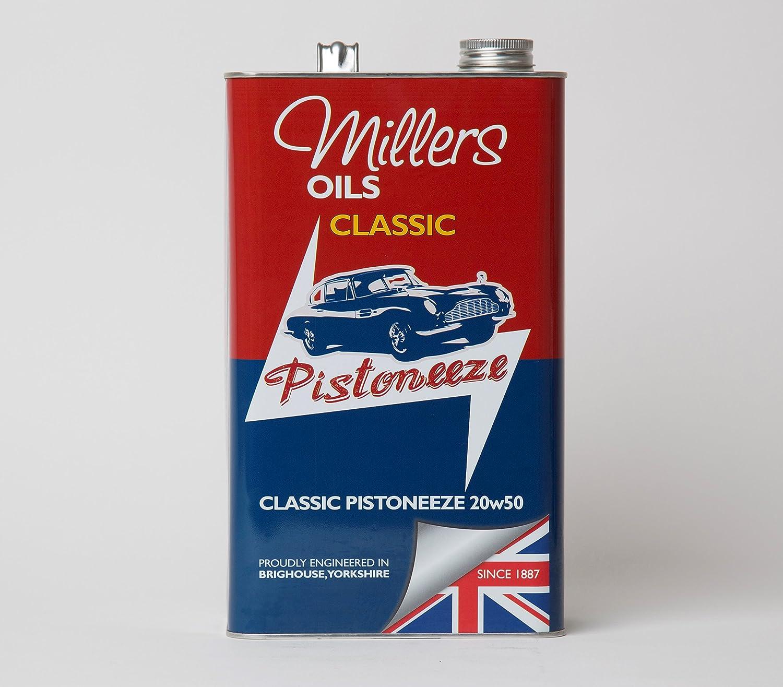 Millers Oils Classic Pistoneeze 20w50 Mineral Engine Oil 5 Ltr 1 Auto