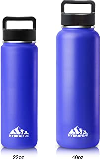 be8bb399ba Hydrapeak Stainless Insulated Water Bottle- 22oz, 40oz, BPA Free Wide  Mouth, Double