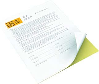 Xerox Premium Digital Carbonless Paper, Letter Size (8.5 x 11), Multi-Part White/Yellow Form, 10 reams per pack, 5000 sheets (3R12420)