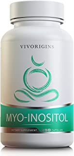 Myo-Inositol | 250 Veggie Capsules | 2000mg per Serving | Made in USA| PCOS - Regulate Cycles - Hormonal Balance & Reproductive Health Support*