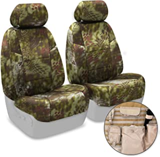 Coverking Front 50/50 Bucket Custom Fit Tactical Seat Cover with Integrated Molle Storage for Select Toyota Tacoma Models - Cordura Ballistic (Kryptek Mandrake Camo)