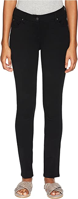 Washable Stretch Tencel Ponte Skinny Jeans in Black