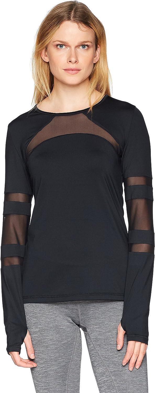SHAPE activewear Womens Cage Mesh Long Sleeve Tee Shirt