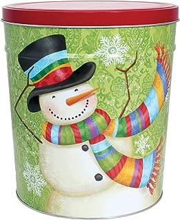 C.R. Frank Popcorn - Gourmet Popcorn Tin, 6.5 Gallon, Snowman (2 Way, Butter and Cheese)
