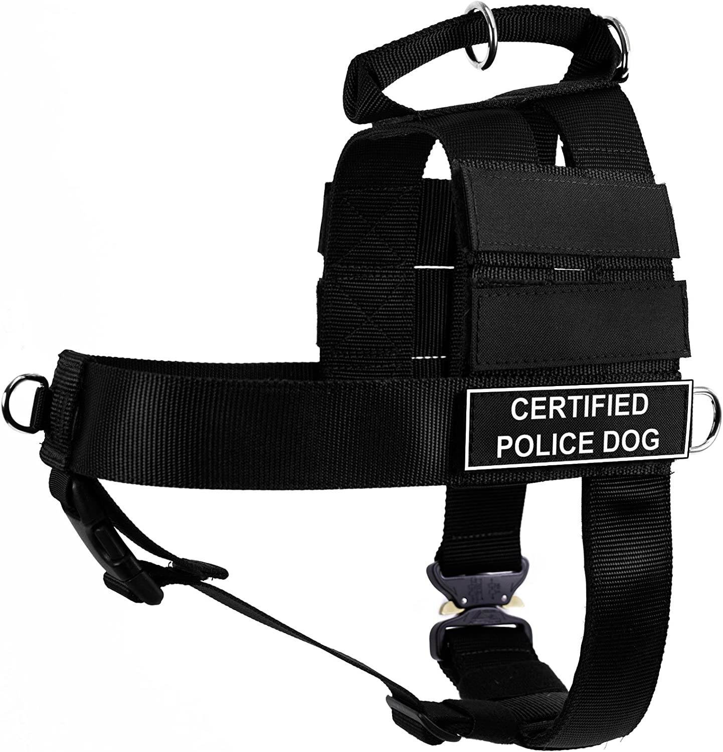 Dean & Tyler DT Cobra Certified Police Dog No Pull Harness, Small, Black
