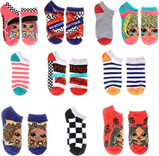 LOL 서프라이즈 인형 LOL Surprise L.O.L. Surprise! girls Omg Dolls No Show Socks,Pink 10 Pack