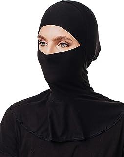 قناع الحجاب، قبعة أنبوبية من القطن، إغلاق الذقن، جاهزة لارتداء إكسسوارات المسلمين للنساء