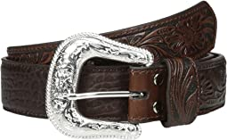 Bullhide Tooled Tabs Belt