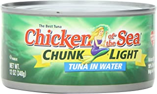 Chicken of the Sea, Chunk Light Tuna in Water, 12-Ounce (Pack of 24)