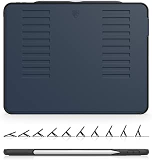 The Muse Case - 2018 iPad Pro 12.9 inch - Very Protective But Thin + Convenient Magnetic Stand + Sleep/Wake Cover by ZUGU CASE (Navy Blue 2018 12.9 Gen 3)