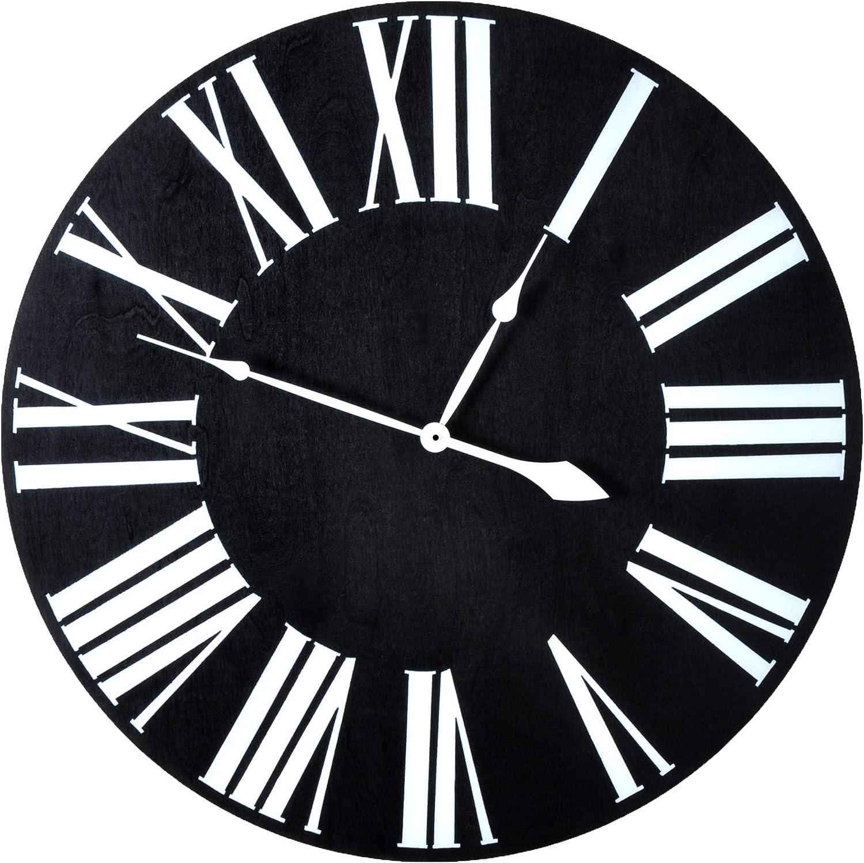 Brandtworks Llc Az Ecc 018 Over Sized Wall Clock 18 X 18 Black Home Kitchen
