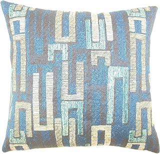 The Pillow Collection Xola Geometric Bedding Sham Sapphire Euro/26
