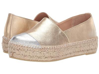 L.K. Bennett Talia Flatform Espadrille (Silver/Gold) Women