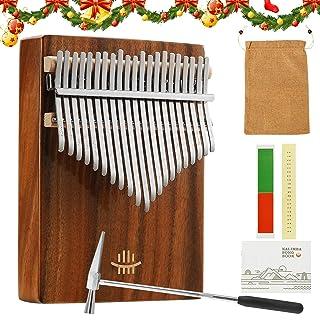 $27 » Kalimba Thumb Piano 21 Keys with Study Instruction and Tune Hammer, Upgraded Acrylic Material, Waterproof Box, Portable Mb...