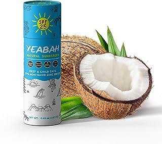 YeaBah - Biodegradable Tinted Facestick Sunscreen - Zinc Oxide Sunscreen - Mineral Sunscreen - Reef Safe Sunscreen - Natur...