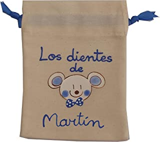 Bolsa ratón Pérez personalizada azul