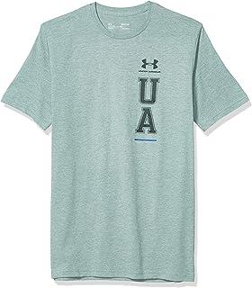 تي شيرت رجالي ماركة Under Armour عليه شعار UA Vertical Left Chest بأكمام قصيرة