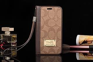 Gibbon Brown - US Fast Deliver Guarantee FBA- New Elegant Luxury Designer PU Leather Monogram Wallet Style Flip Cover Case for Apple (iPhone 7 Plus / 8 Plus)