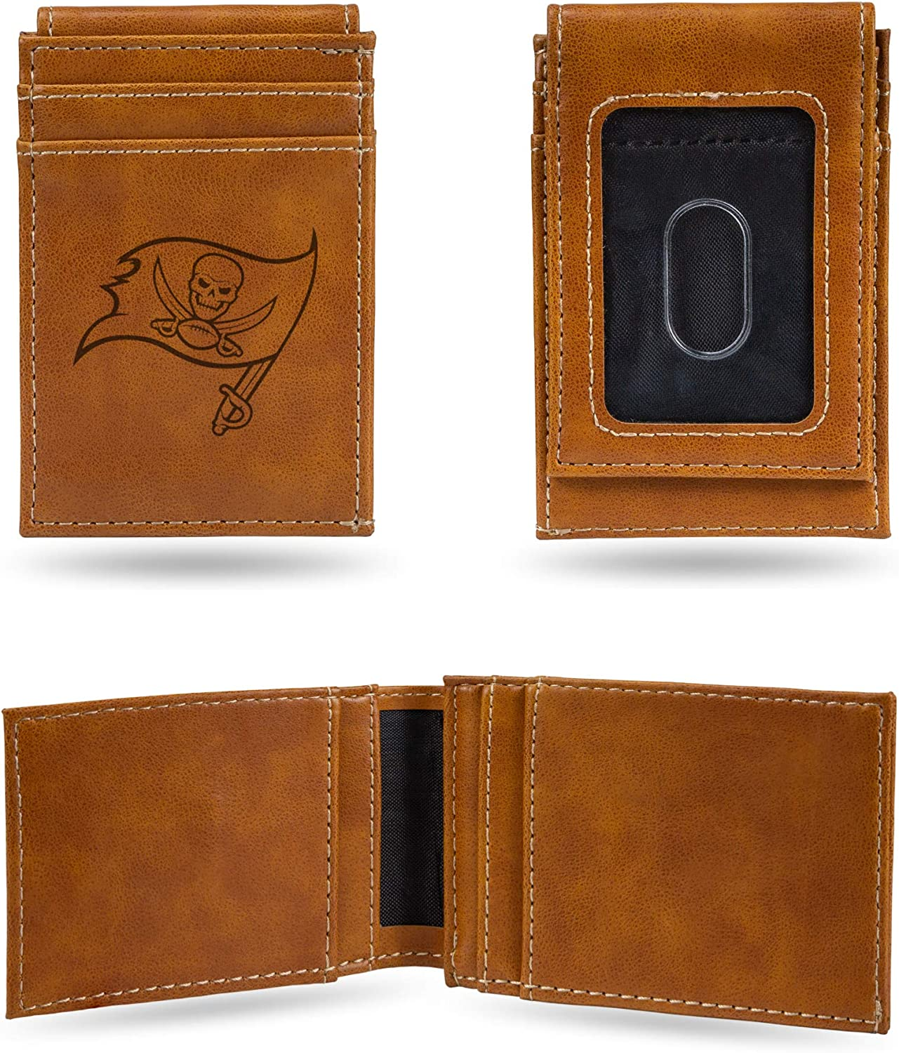 NFL Rico Industries Laser Engraved Fees free Ba Tampa Sales of SALE items from new works Wallet Pocket Front
