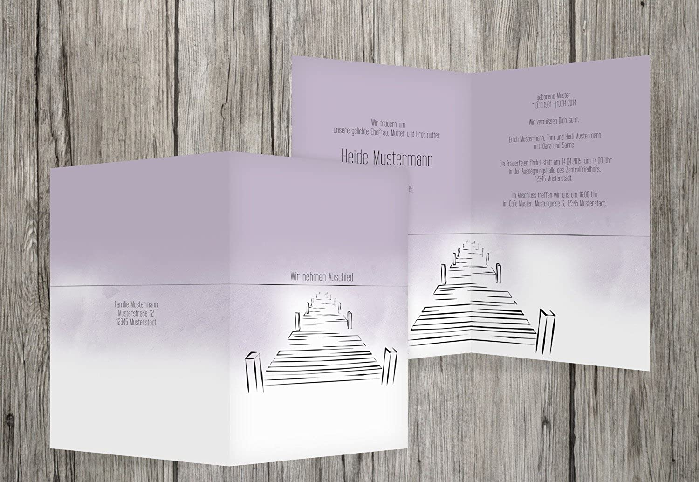 Centro comercial profesional integrado en línea. Tarjeta de luto Boardwalk, pastellDistelpúrpura, pastellDistelpúrpura, pastellDistelpúrpura, 60 Karten  selección larga