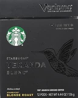 Starbucks Veranda Blend Brewed Coffee Verismo Pods (12 Pods)