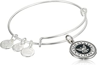"""Alex and Ani """"Armed Forces"""" US Navy Expandable Wire Bangle Charm Bracelet"""