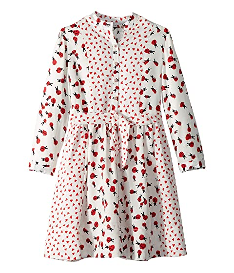 Stella McCartney Kids Camille Ladybug Printed Long Sleeve Dress (Toddler/Little Kids/Big Kids)