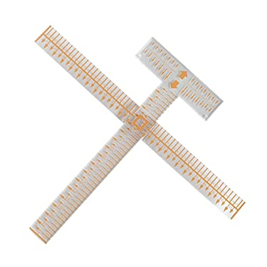 Avery King Acrylic Ruler Tee Square It I Alignment Tool for Heat Transfer Vinyl, 3 Vinyl Crafting Alignment Tool