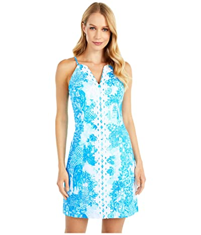 Lilly Pulitzer Pearl Stretch Shift Dress (Multi Toile Me About It) Women