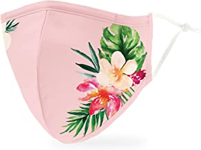 Weddingstar 3-Ply Adult Washable Cloth Face Mask Reusable and Adjustable with Filter Pocket - Tropical Floral