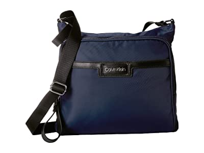 Calvin Klein Lane Nylon Messenger (Navy) Handbags