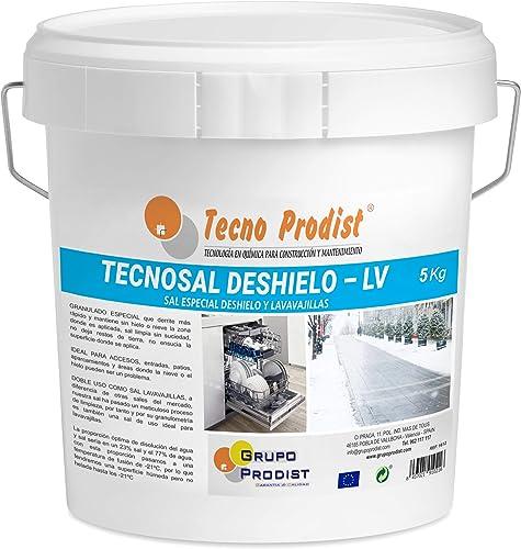 TECNOSAL DESHIELO (5 Kg) sal especial para derretir hielo y nieve en invierno, descongelación ideal para caminos, ent...