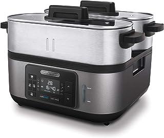 Morphy Richards 470006EE Le barbecue à vapeur professionnel pour votre cuisine, Acier inoxydable