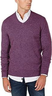 Club Room Mens Cashmere Heathered V-Neck Sweater