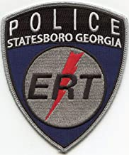 Embroidered Patch - Patches for Women Man - Statesboro Georgia GA ERT Special Emergency Response Team SWAT Police